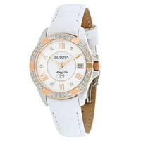 Bulova Marine Star Women's Star Diamonds Watch (White) - Manufacturer Refurbished
