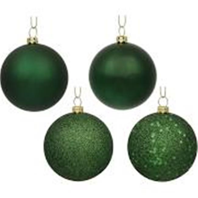 Vickerman N591264A 4.75 in. Moss Green 4 Finish Assorted Color Christmas Ornament Ball - 4 per Box - image 1 of 1