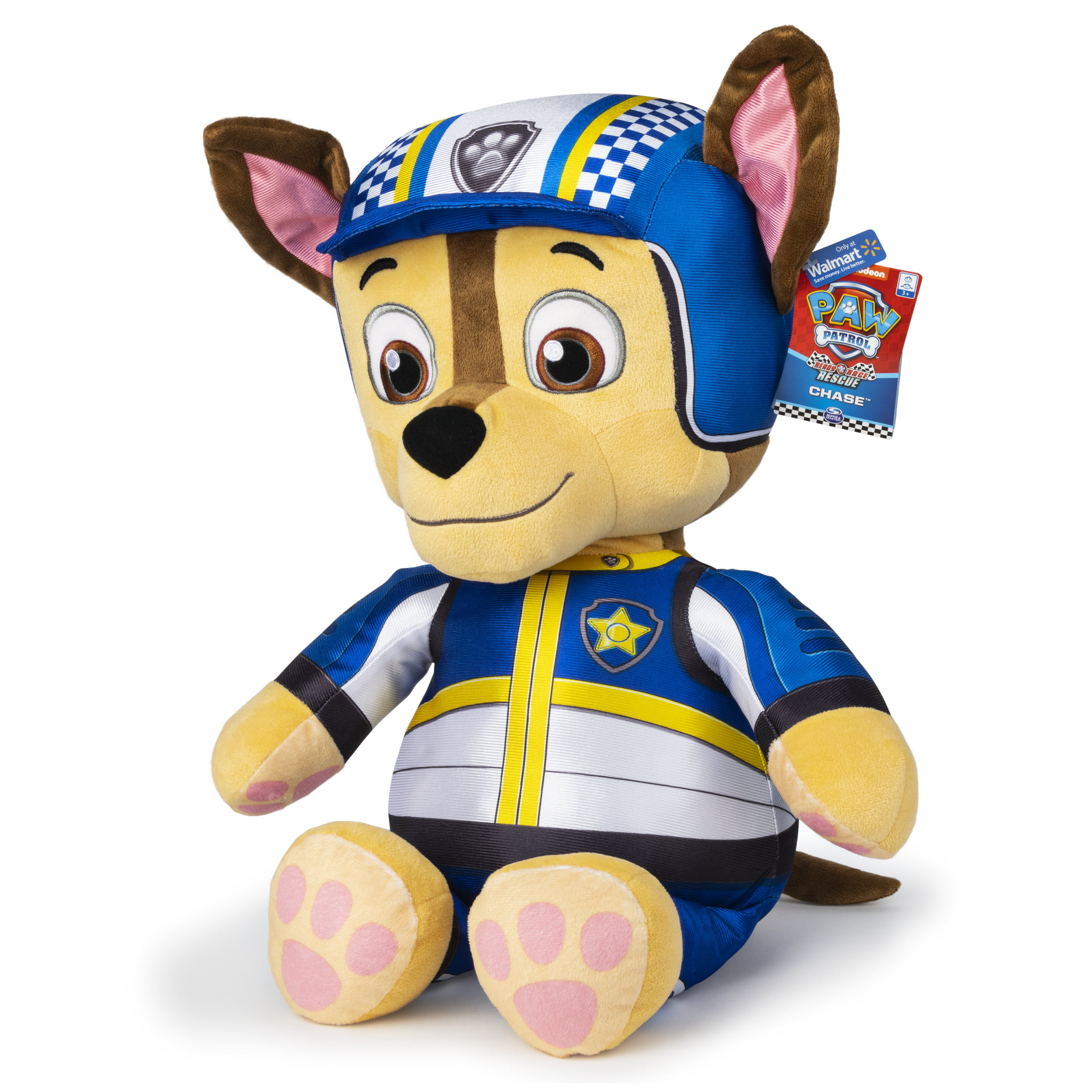 PAW Patrol, 24-Inch Ready, Race, Rescue Chase Jumbo Plush, Walmart Exclusive, for Ages 3 and Up