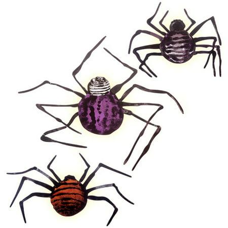 Darice Wall Decor Martha Stewart Crafts Illuminated Spider Decorations Chipboard Assorted Sizes