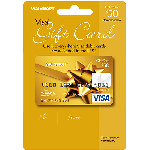 50 Walmart Visa Gift Card Service Fee Included Walmart Com