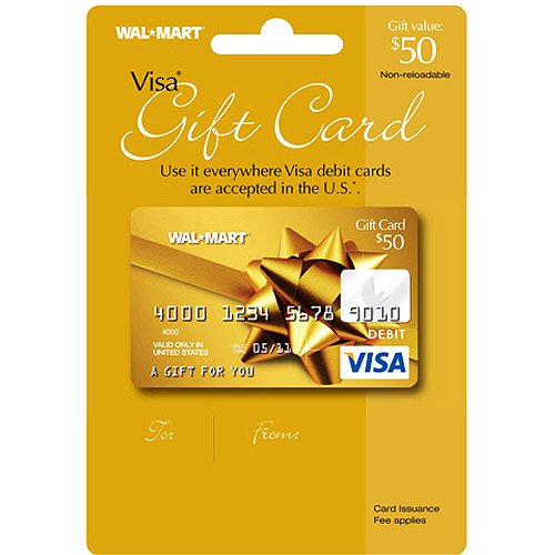 50 walmart visa gift card service fee included walmartcom - Prepaid Visa Gift Card