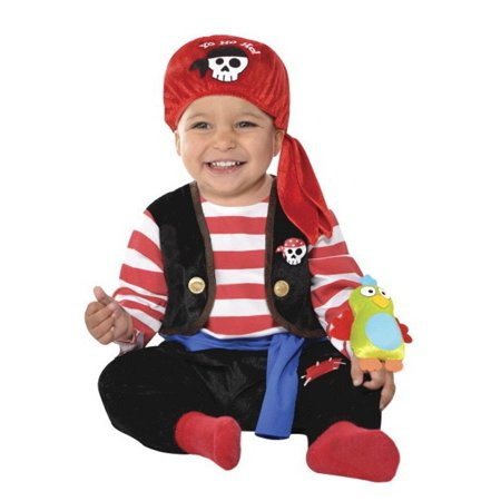 Baby Buccaneer With Parrot Infant Boys 6-12 Months Pirate - Infant Parrot Costume