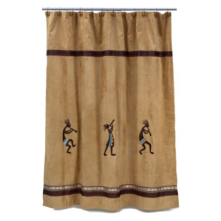 Kokopelli Shower Curtain Gold
