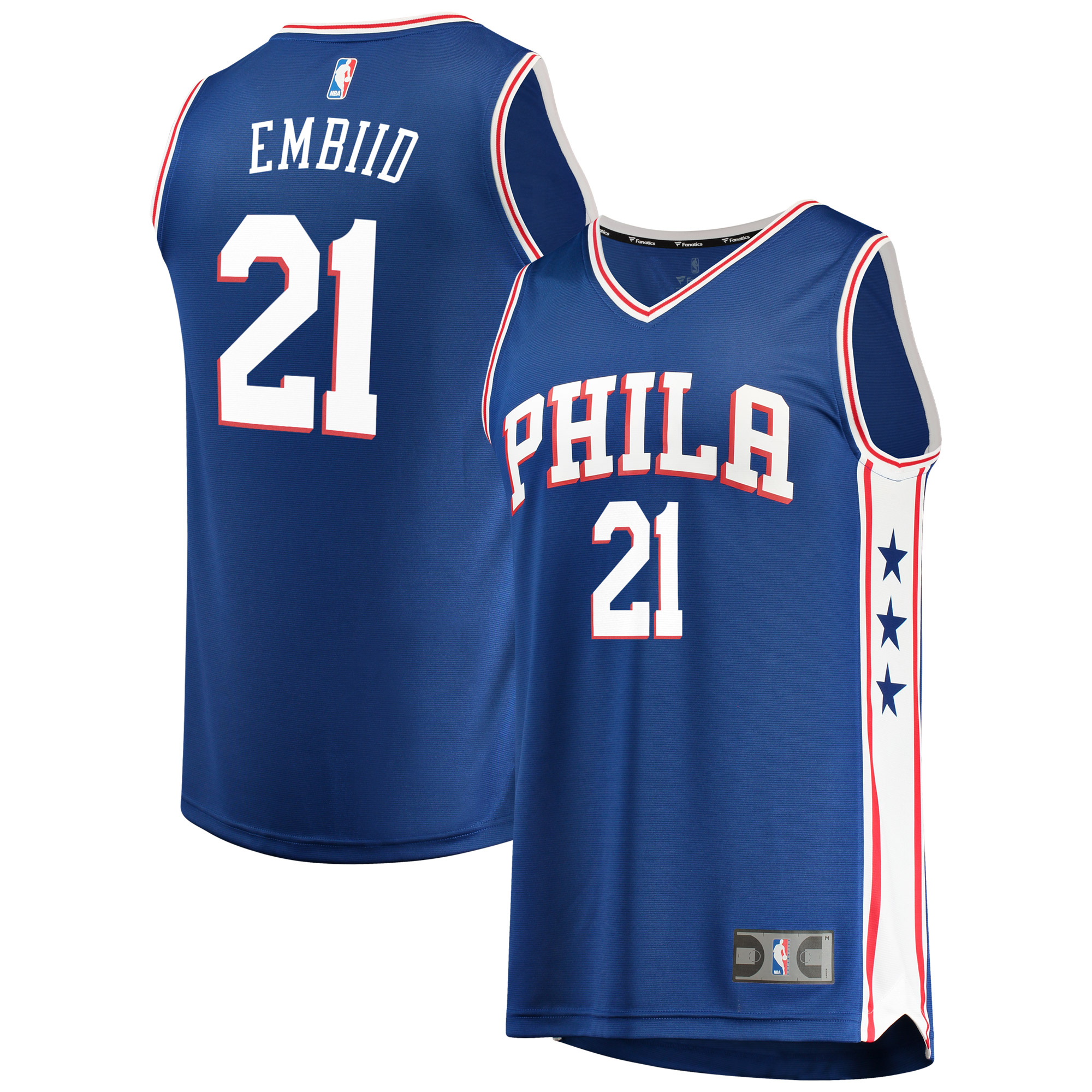 Joel Embiid Philadelphia 76ers Fanatics Branded Fast Break Replica Jersey Royal - Icon Edition