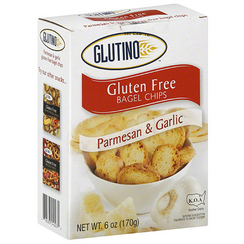Glutino Gluten Free Parmesan Garlic Bagel Chips, 6 oz, (Pack of 6)