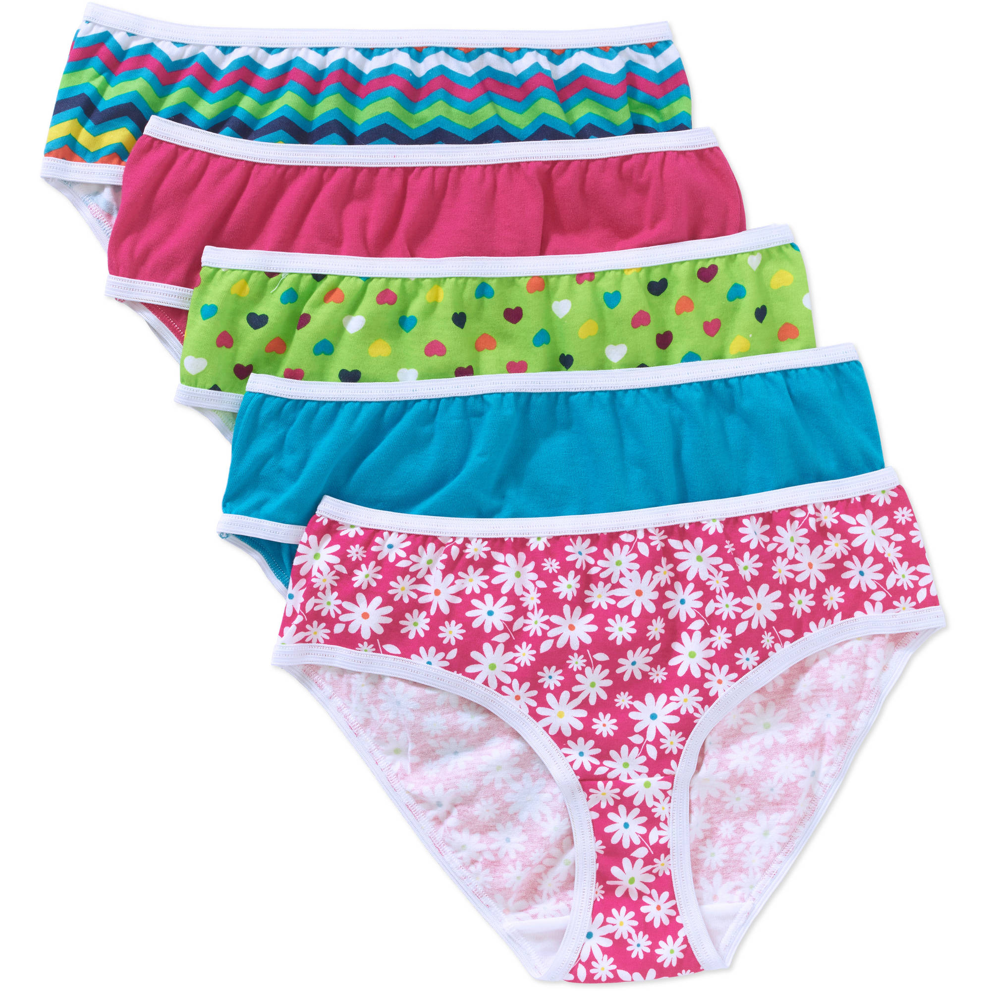 Faded Glory Girls' Brief 5 Pack