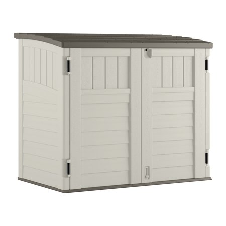 Suncast 34 cu. ft. Horizontal Storage & Utility Shed, Vanilla, (Best Price On Storage Sheds)