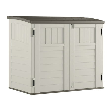 Suncast 34 cu. ft. Horizontal Storage & Utility Shed, Vanilla, (Best Insulation For Shed)