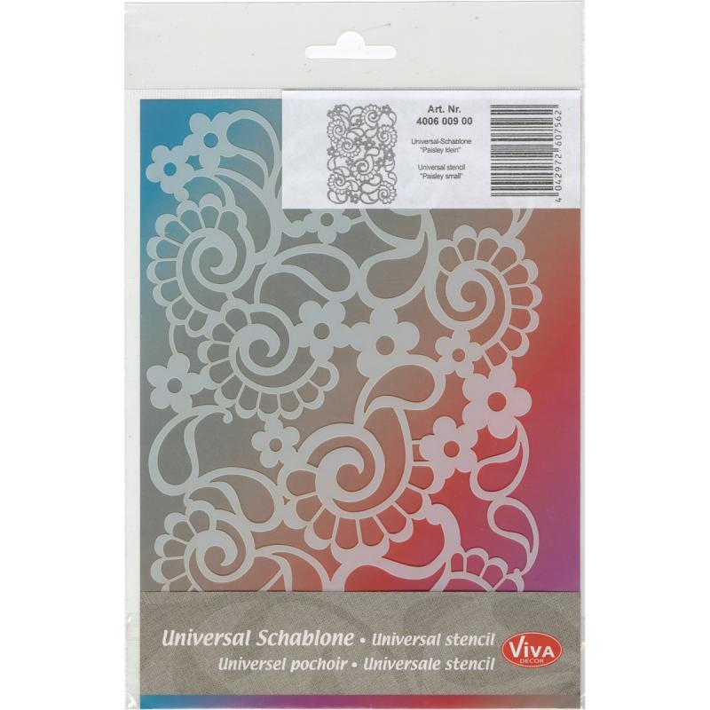 "Viva Decor Small Background Stencil 5""x7""-paisley"