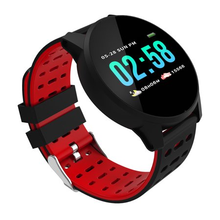 Smart Watch 1.3In IPS Screen Touch Fitness Watch IP67 Smart Bracelet with Heart Rate Activity Tracking Step Counter Calorie Counter Sleep Monitoring Ultra-Long Battery Life for Women Men - image 1 de 7