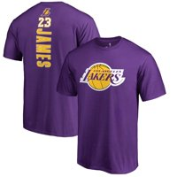 5d663d4e792 Product Image LeBron James Los Angeles Lakers Fanatics Branded Backer Name    Number T-Shirt - Purple
