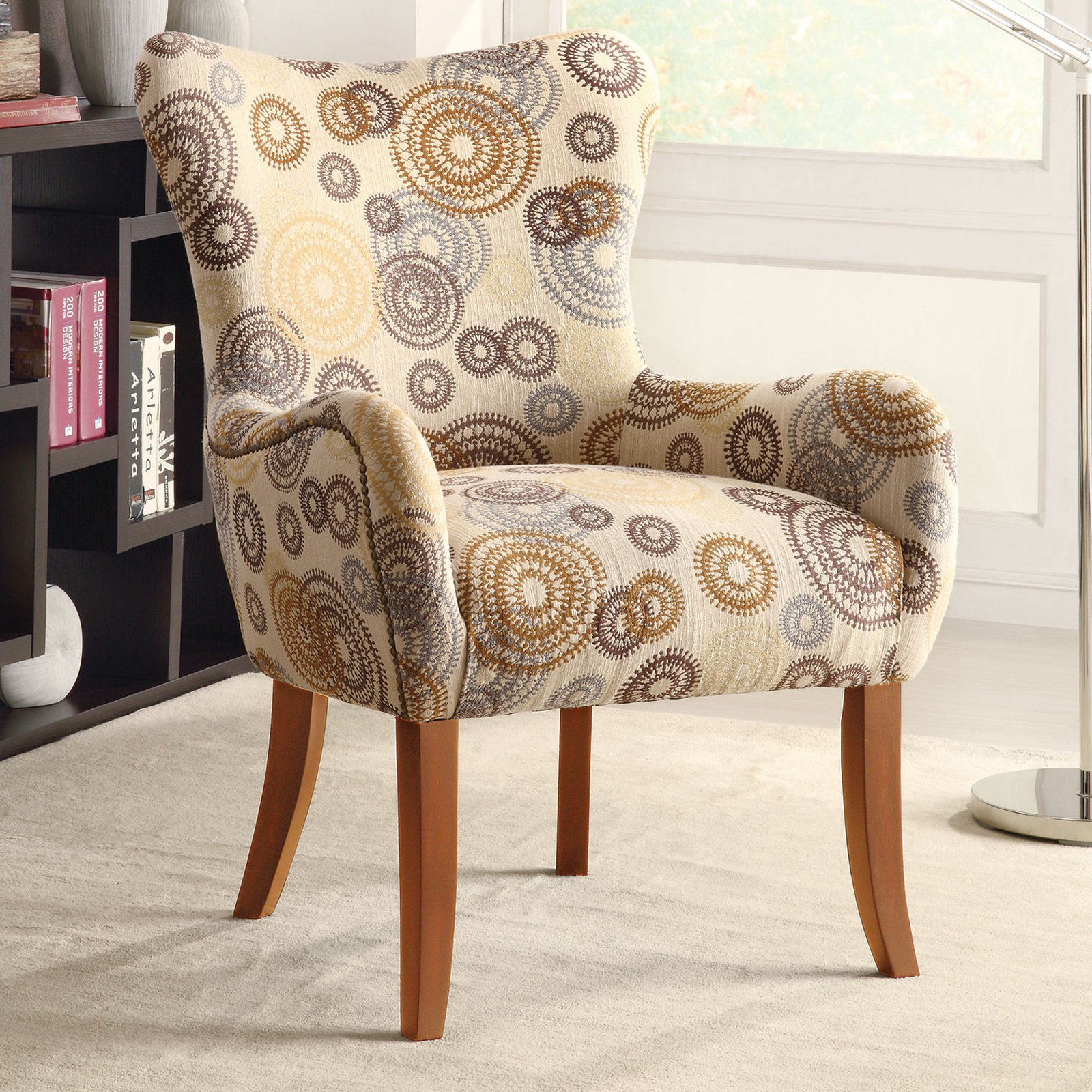 Coaster Woven Accent Chair, Beige