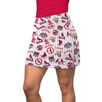 St. Louis Cardinals Loudmouth Women's Retro Cooperstown Active Skort - Red/Navy