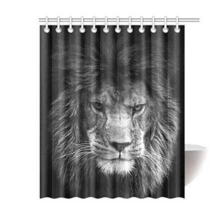 Pop Animal Decor Shower Curtain Lion