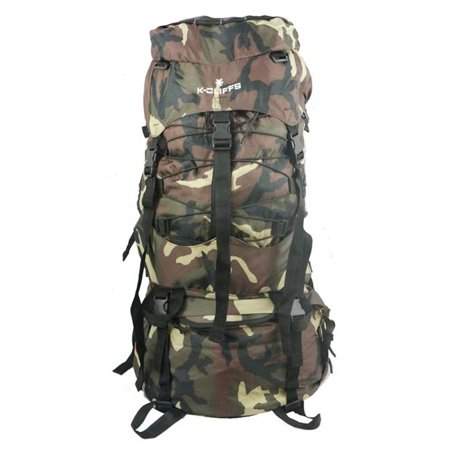 Harvest LM039-Camo 7000ci Internal Frame Camping Hiking Backpack