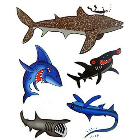 Premium Shark Tattoos, Party Favors, Temporary - Shark Tattoos