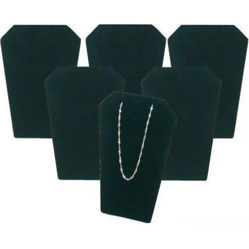 - 6 Black Velvet Necklace Pendant Chain Earring Display Stands