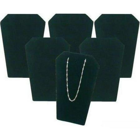 6 Black Velvet Necklace Pendant Chain Earring Display -