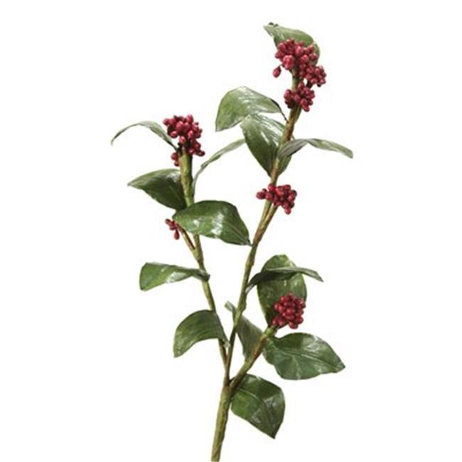 Distinctive Designs DW-660-BGPL DIY Flower Burgundy Plum Wisley Pearl Spray x 2 - Pack of 12