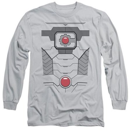 Jla-Cyborg Costume Long Sleeve Adult 18-1 Tee, Silver - XL - image 1 de 1
