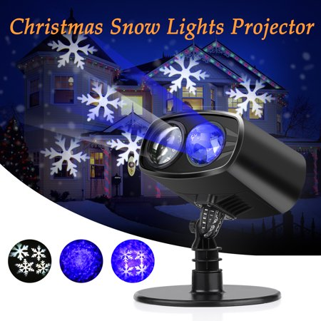 HURRISE Moving Landscape LED Projector Light Christmas Holiday Party Outdoor/Indoor Decor - Outdoor Holiday Projector