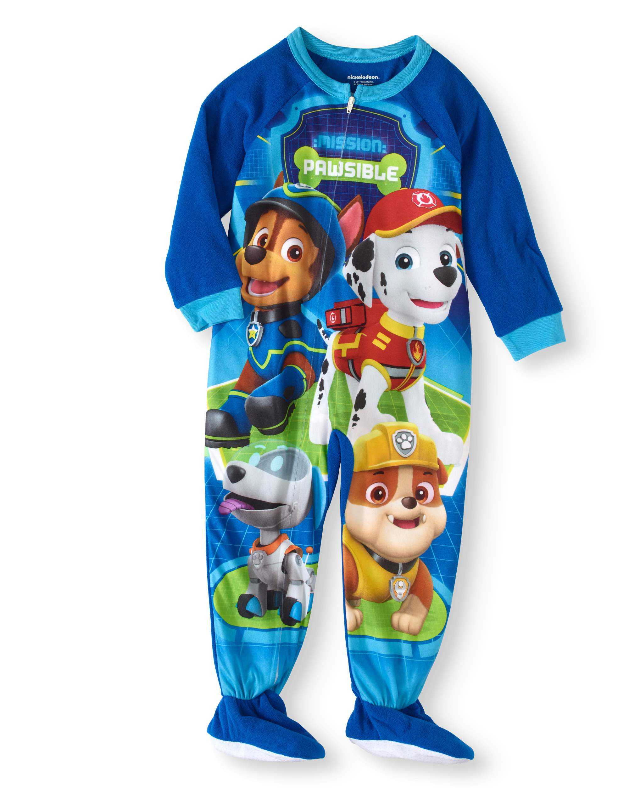 Toddler Boys' Micro Fleece Footed Pajama