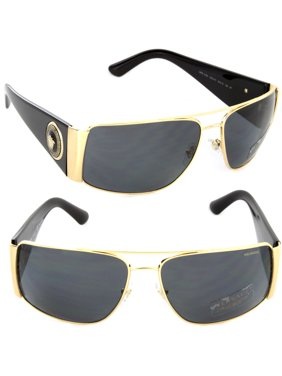 5da1b8f5a36d Product Image Versace Mens Sunglasses (VE2163) Gold Grey Metal - Polarized  - 63mm