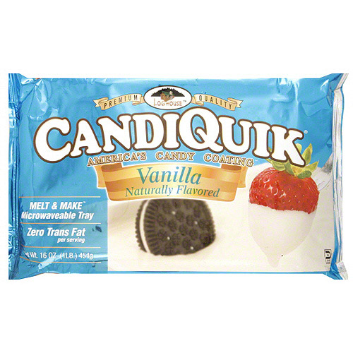 Log House America's Candiquik Vanilla Candy Coating, 16 oz (Pack of 12)