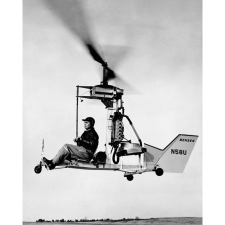 One Man Helicopter That Uses A Mercury Outboard Motor Oct 1959 Csu ArchivesEverett Collection