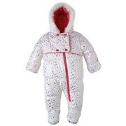 Wippette Baby Girls Infants Fleece Lined Warm Winter Foil Star Snowsuit Bunting