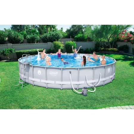 Coleman power steel 24 39 x 52 frame swimming pool set for Swimming pool set angebot