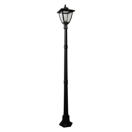 - Nature Power Super Bright Natural White LED 72 in. Bayport Solar Lamp Post - Black