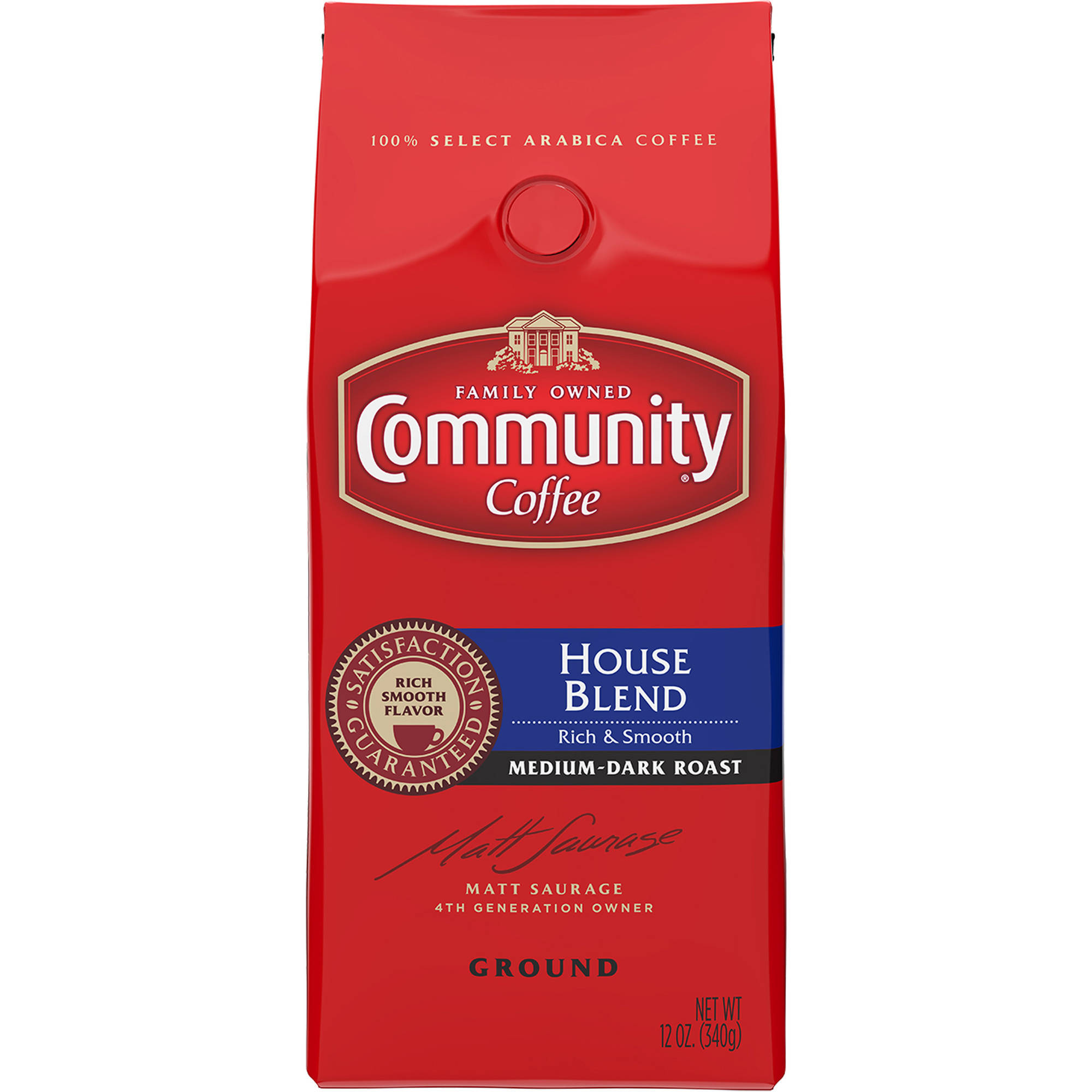Community Coffee House Blend Medium-Dark Roast Ground Coffee, 12 oz