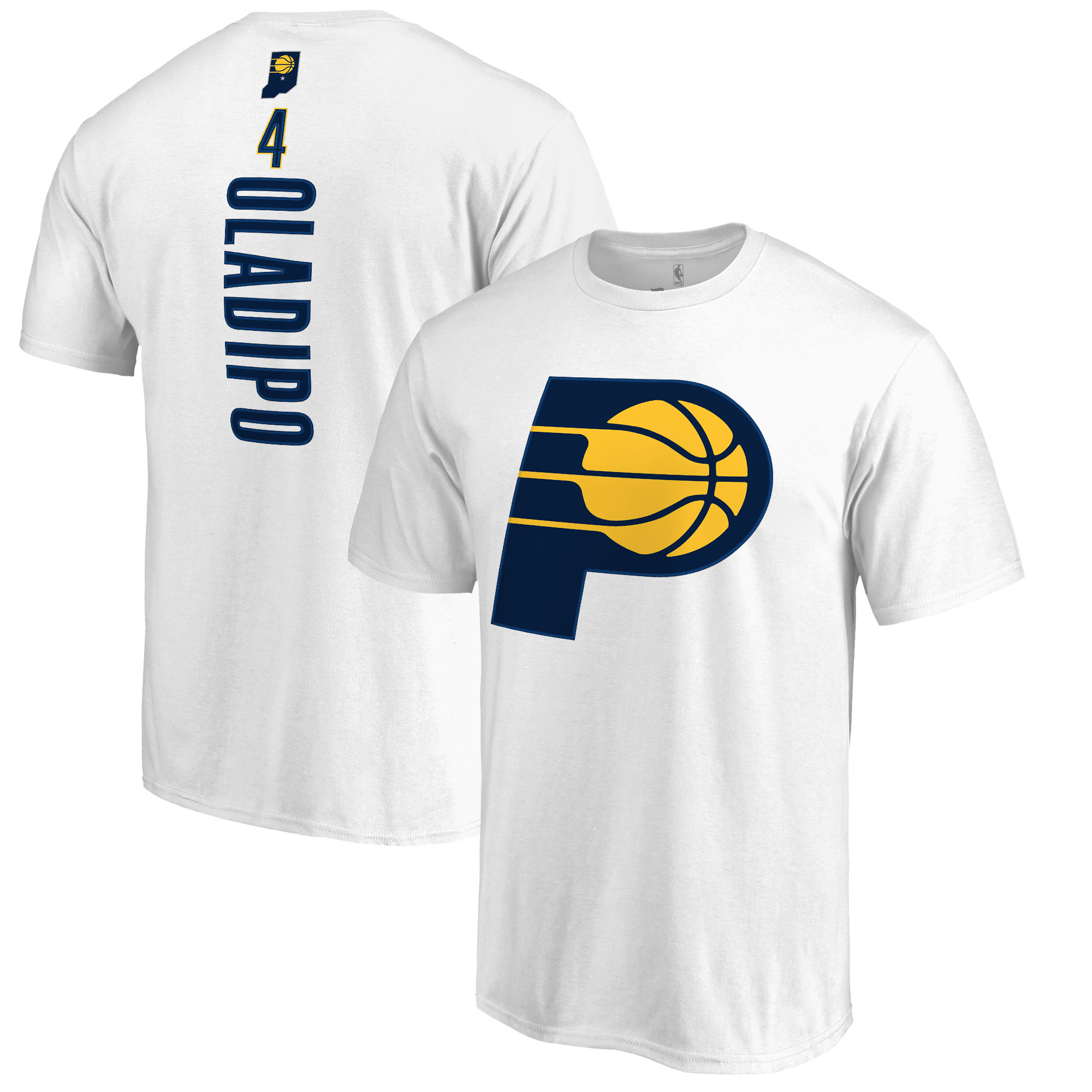 Victor Oladipo Indiana Pacers Fanatics Branded Backer Name & Number T-Shirt - White