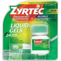 Zyrtec Allergy 10 mg Liquid Gels 12 ea (Pack of 2)