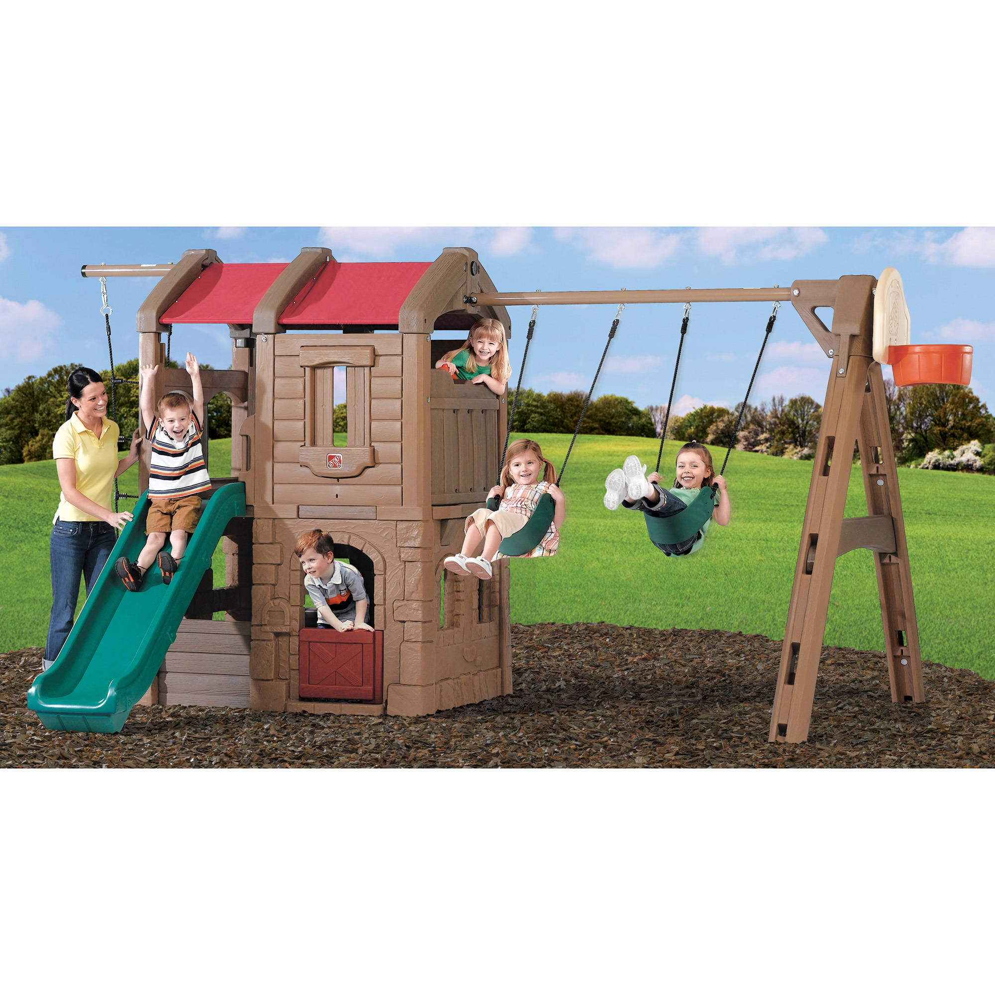 Step2 Naturally Playful Adventure Lodge Play Center Swing Set by Step2
