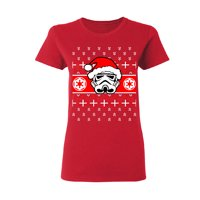 Star Wars Pardoy Santa Darth Vader Women's T-shirt Black Small