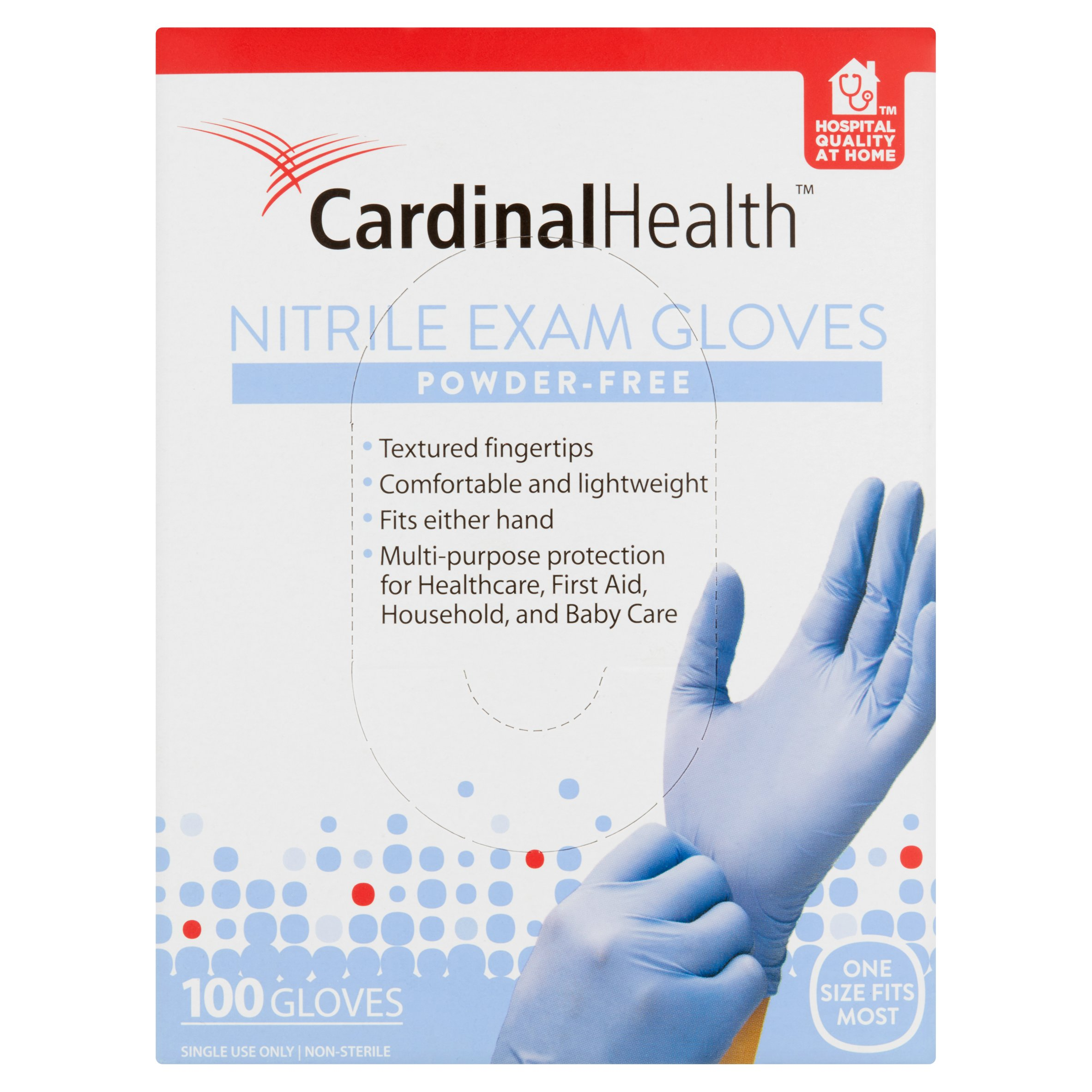 Cardinal Nitrile Exam Gloves, 100 count