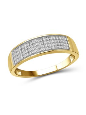 1/4 Carat T.W. White Diamond 10k Yellow Gold Men's Ring
