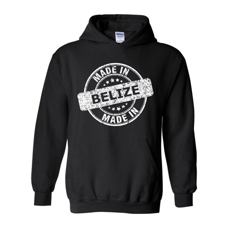 Made In What To Do In Belize Travel Guide Deals Caribbean Cruise Map Flag Gift Womens Hoodie Sweatshirt