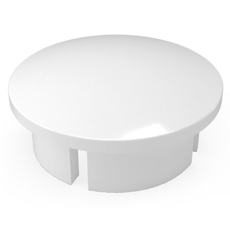 Pvc Entrance Caps (FORMUFIT F001IDC-WH-10 PVC Internal Domed End Cap, Furniture Grade, 1