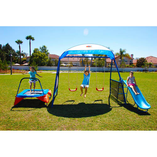 "IronKids ""Cooling Mist"" Inspiration 250XL Fitness Playground Metal Swing Set"