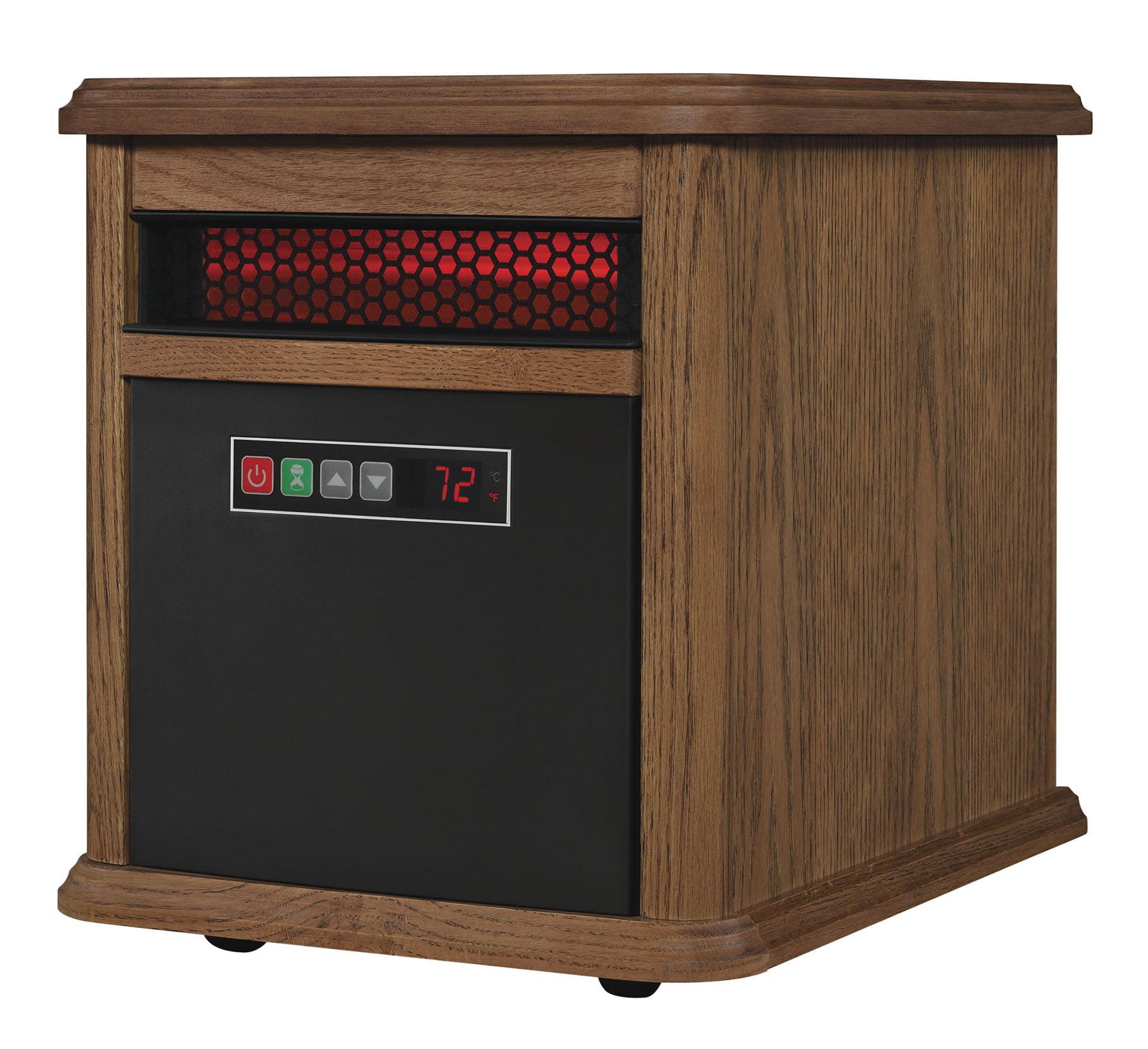 Twin-Star International Duraflame Portable Electric Infrared Quartz Heater, Oak