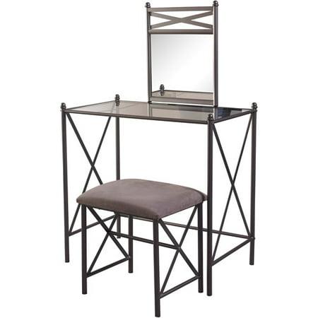 linon home decor mission hills vanity set cement - Linon Home Decor