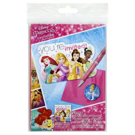 Disney's Princesses Ariel, Rapunzel, Belle, and Tiana Invitations, 8 Count](Ariel Invitations)