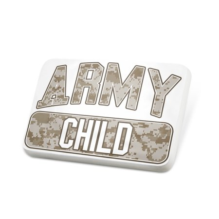 Porcelein Pin ARMY Child, Camo Lapel Badge – NEONBLOND