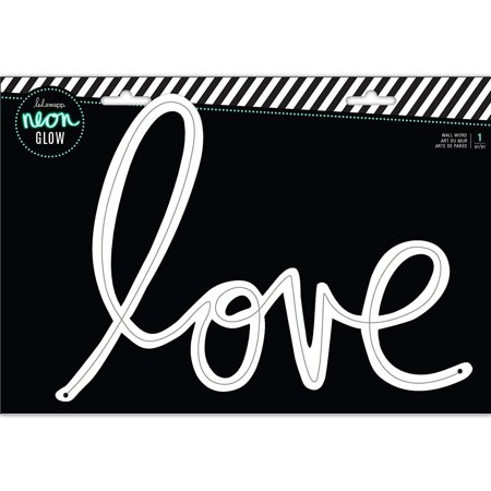 Custom Lighted Signs (314222 Love Wall Word, Multi, CUSTOMIZABLE: Create custom signs to fit your vibe with other Heidi Swapp Neon Lights products (each sold.., By Heidi Swapp)