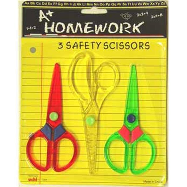 Bulk Buys Scissors - School Safety - 3 pack - Case of 96
