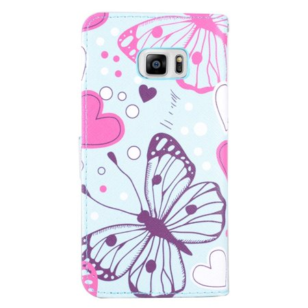 Insten Butterfly Leather Wallet Case with card slot For ...